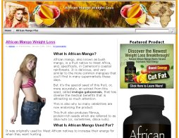 Thumbnail screenshot of AfricanMangoHQ.com