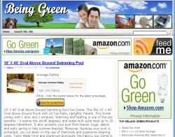 Thumbnail screenshot of BeingGreen.org