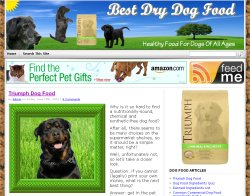 Thumbnail screenshot of BestDryDogFood.net