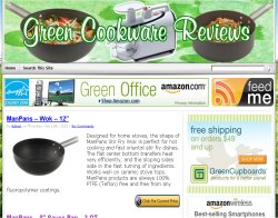 Thumbnail screenshot of GreenCookwareReviews.com