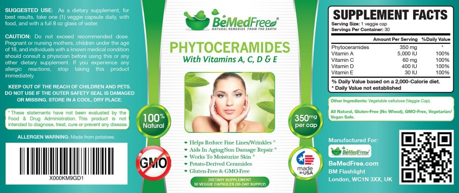 Click to enlarge image of Phytoceramides Label