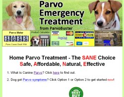 Thumbnail screenshot of ParvoEmergencyTreatment.com