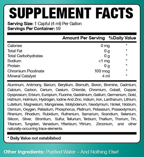 Click to enlarge image of Ultimate Essential Mineral Supplement ingredients