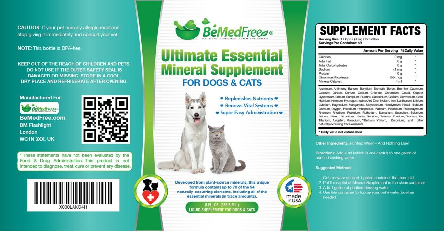 Click to enlarge image of Ultimate Essential Mineral Supplement Label