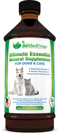 Ultimate Essential Mineral Supplement For Dogs, Cats & Other Pets from BeMedFree.com®