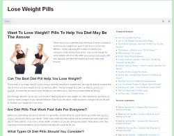 Thumbnail screenshot of LoseWeightPills.org